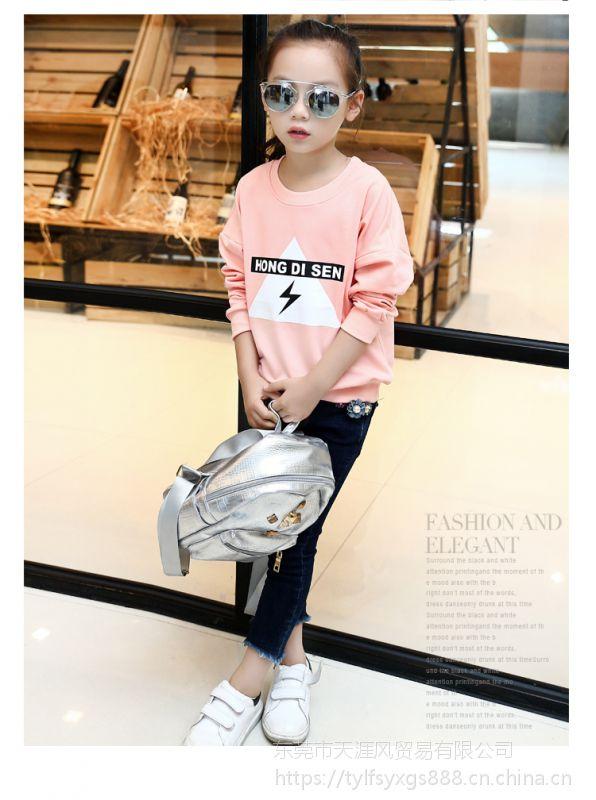 浙江杭州服装批发市场 中大童装卫衣货源批发全棉童装卫衣批发