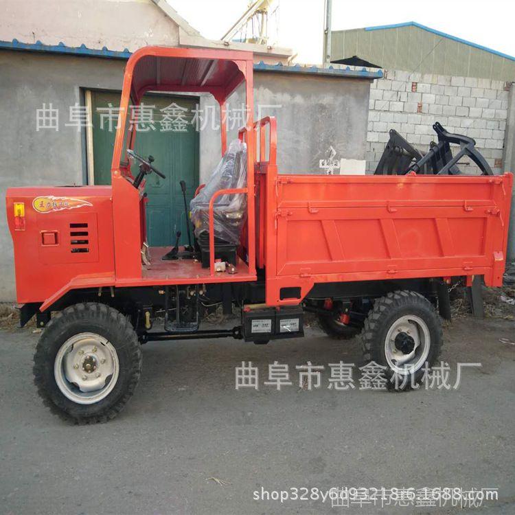 狭小空间运输混泥土工程车 养殖畜牧用四轮车 新款双缸工程自卸车