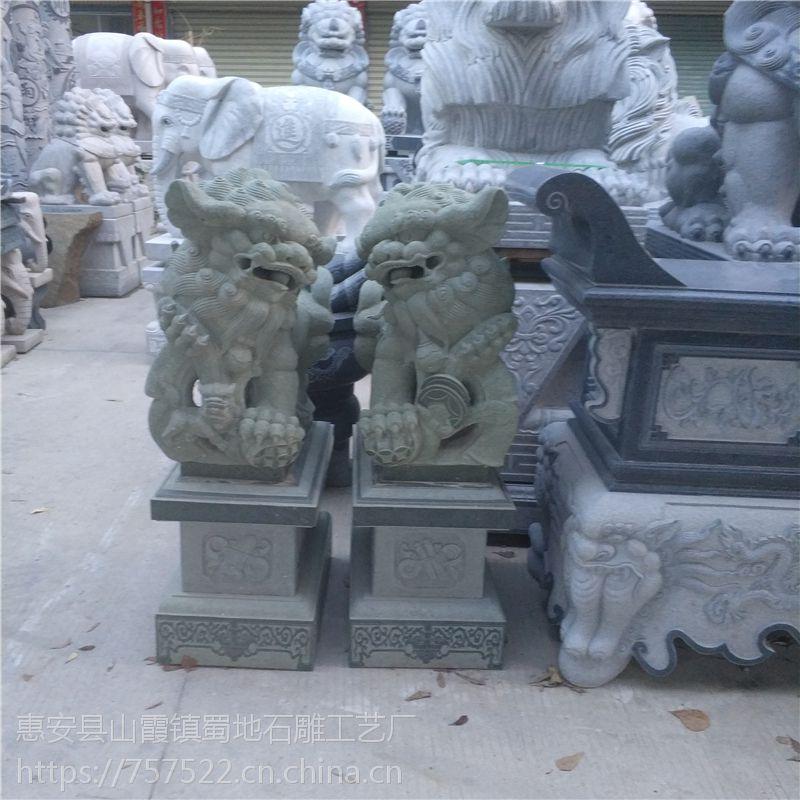 白色花岗岩石雕石头狮子医院寺庙酒店公园门前工艺品摆件摆设