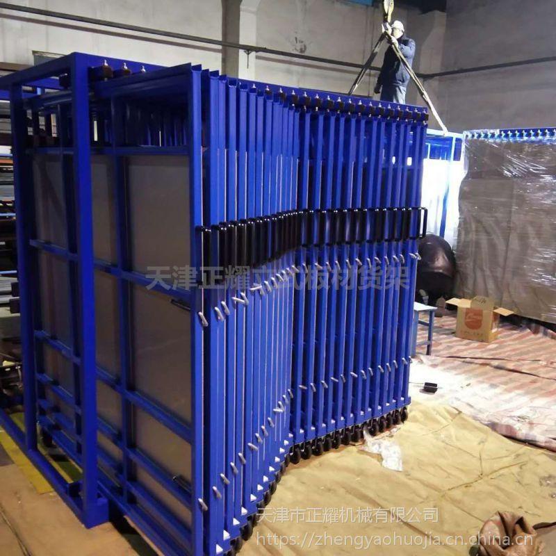 湖北立式板材货架工程 片材存放架 抽拉式货架批发
