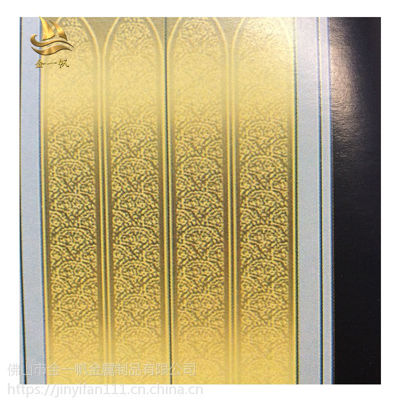 佛山金一帆彩色不锈钢电梯板 蚀刻花纹装饰板定制 高档酒店会所装潢板定制