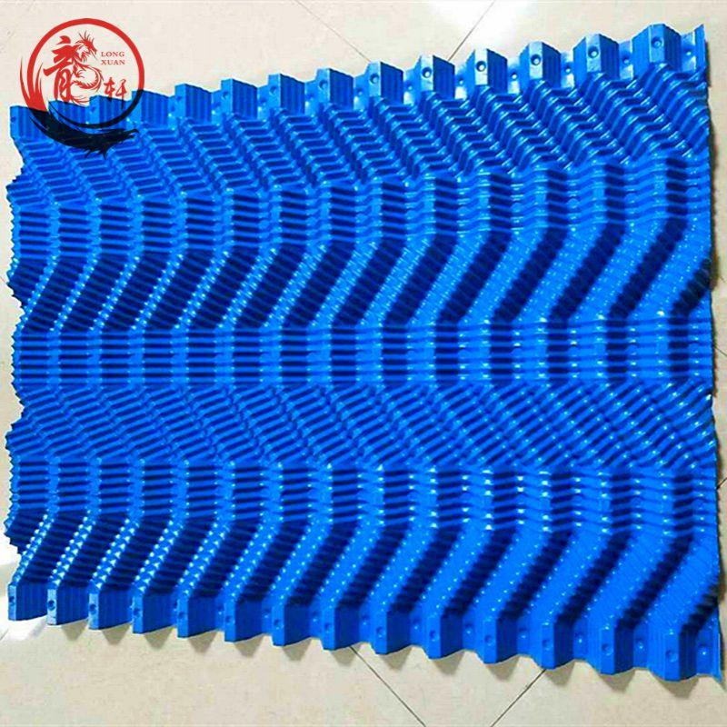 北京朝阳区焦化厂逆流冷却塔S波填料加厚新款定做尺寸625*1000mm双S波填料——河北龙轩