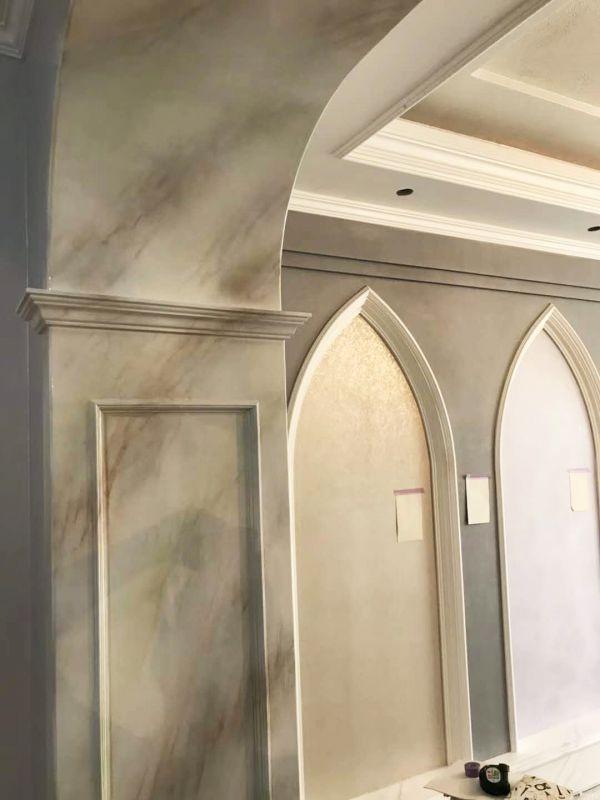 浮斐尼仿大理石纹理艺术涂料 内墙大面积仿大理石墙艺术漆 艺术水漆包工包料 艺术壁材