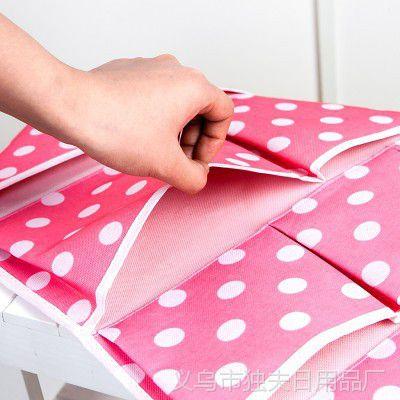 厂家直销 波点墙壁挂袋 浴室挂袋 pvc波点挂袋