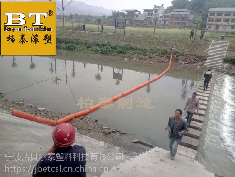 取水口设置拦垃圾装置水电站拦污浮筒厂家