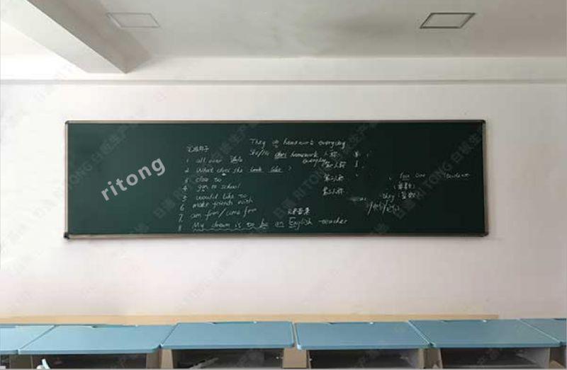 深圳学校暑假定做磁性推拉黑板白板厂家日通牌多媒体白绿板安装批发
