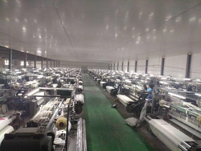 石家庄永益嘉新材料制造有限公司的工厂纺织车间视频