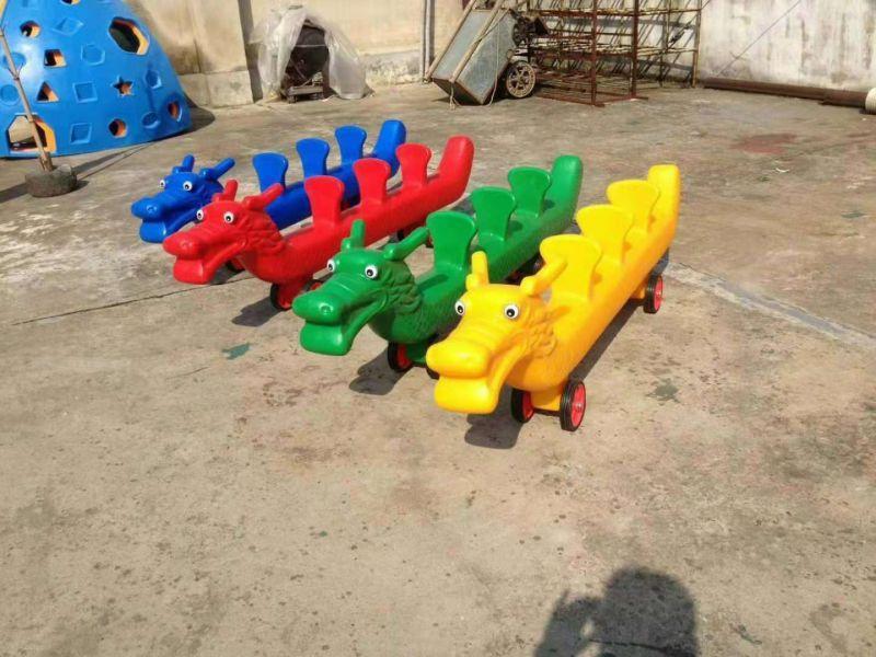 幼儿园5人协力车,多人塑料玩具车