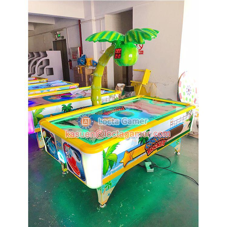 广东中山泰乐游乐儿童室内电玩气垫球椰子气垫球推球机