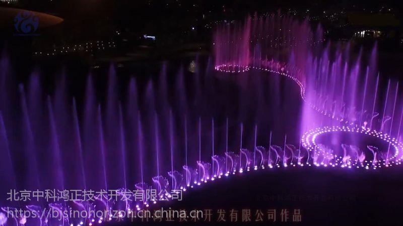 大型音乐喷泉水景水秀水上实景演出设计工程