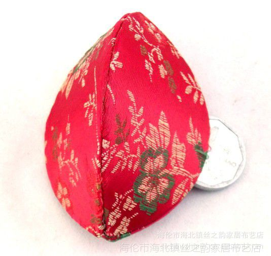 工厂批发订制中国风外事礼品手工布艺缝制织锦缎开口笑首饰盒
