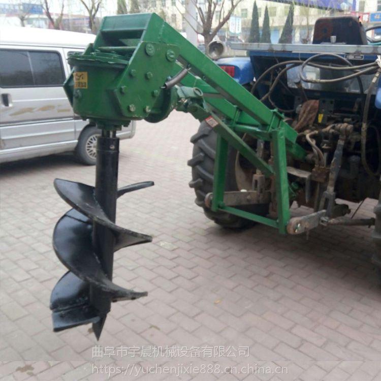 拖拉机带动挖坑机哪里有卖 30公分挖树坑机 立杆挖坑设备