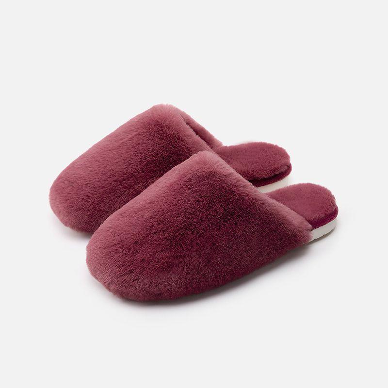 情侣毛毛棉拖鞋女冬季家居室内防滑厚底保暖拖鞋子男新款