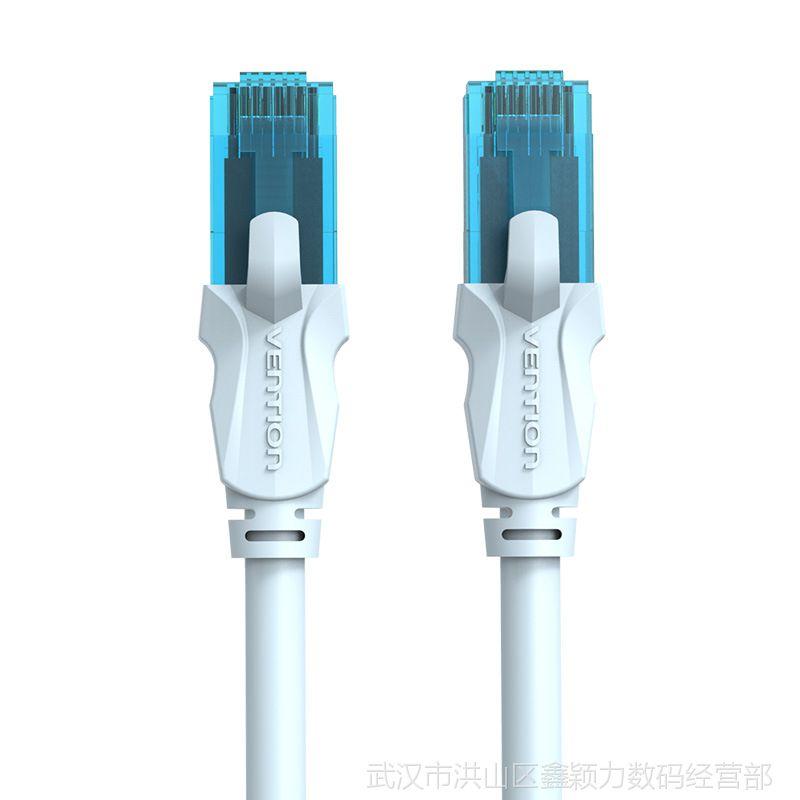 威迅A10系列五类非屏蔽跳线冰蓝色 电脑跳线 成型网络线双绞网线
