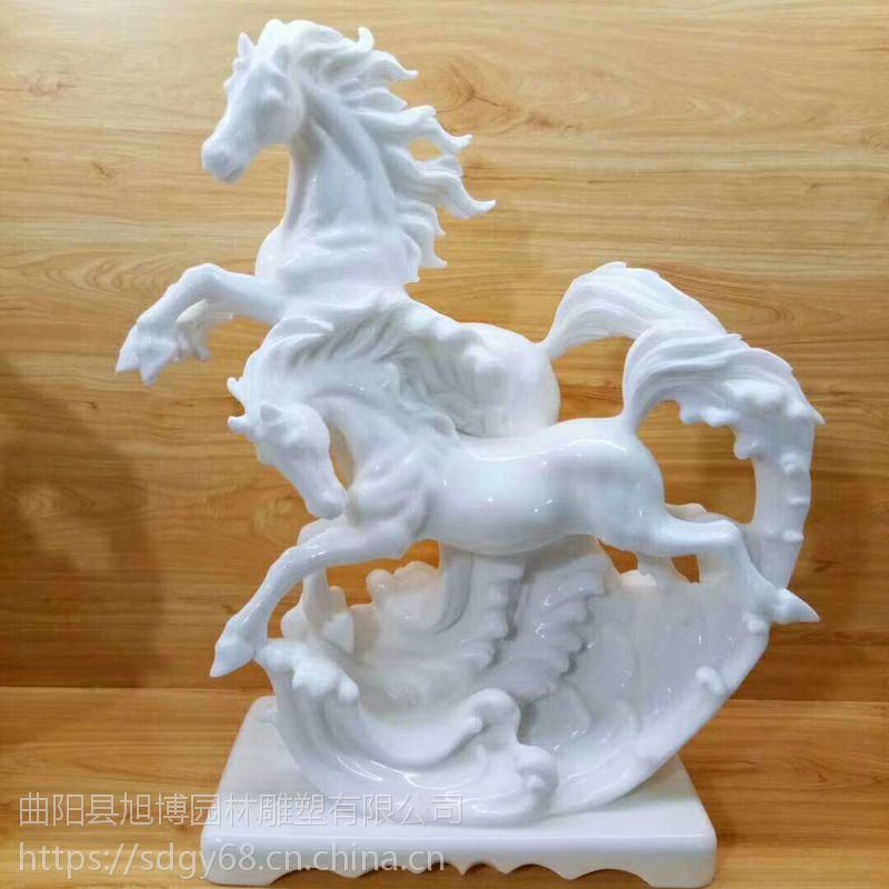 供应汉白玉马雕塑 广场景观石雕马雕刻工艺品马摆件