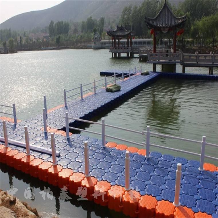 水上平台浮筒 浮桥安装过程