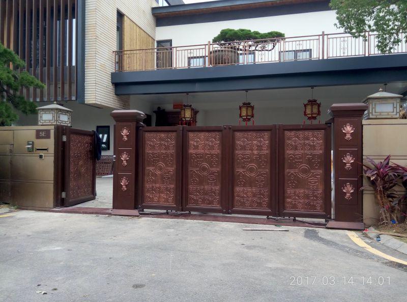 庭院悬浮折叠门 无轨悬浮折叠门厂家 电动悬浮折叠门 久瑞门业