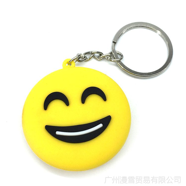 QQ笔画卡通表情钥匙扣挂饰吊坠图案瑞克和图片双面表情简项链图片