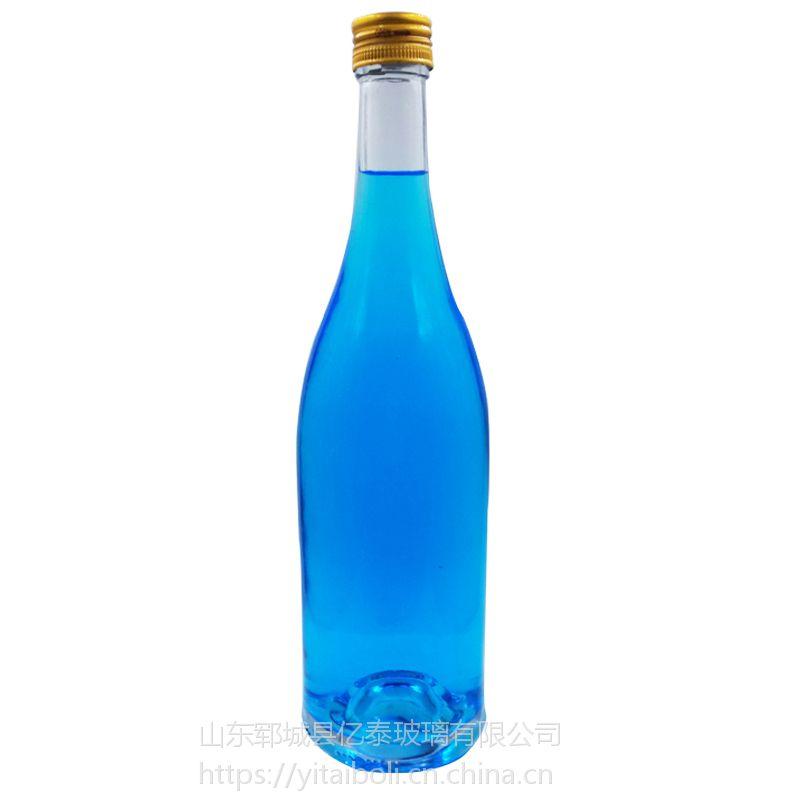 750ml洋酒玻璃瓶 长期批发定制 山东郓城厂家直销晶质料玻璃瓶量大优惠