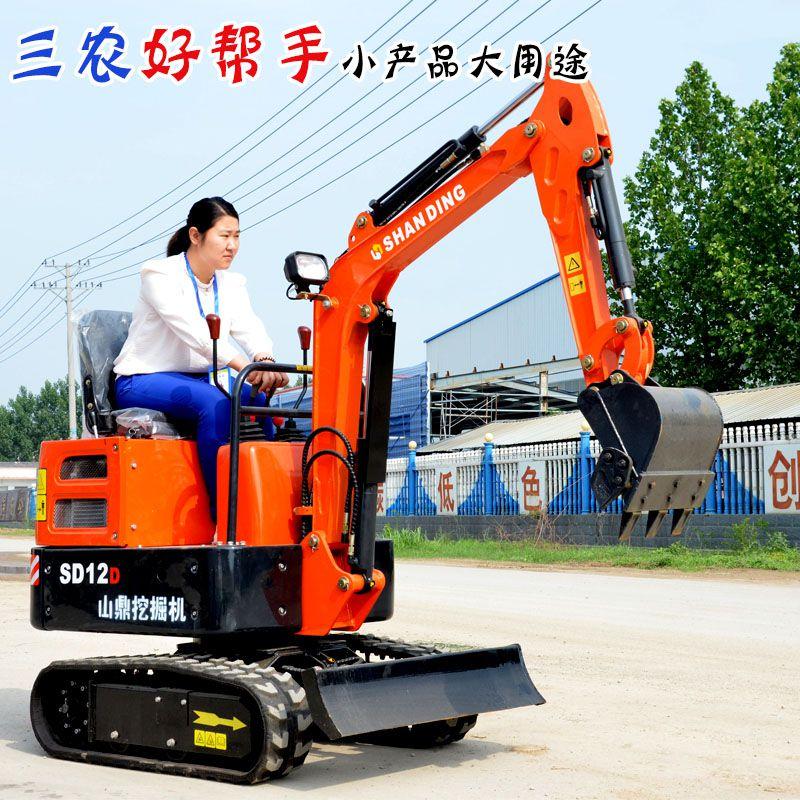山鼎公司小型挖掘机公司展示