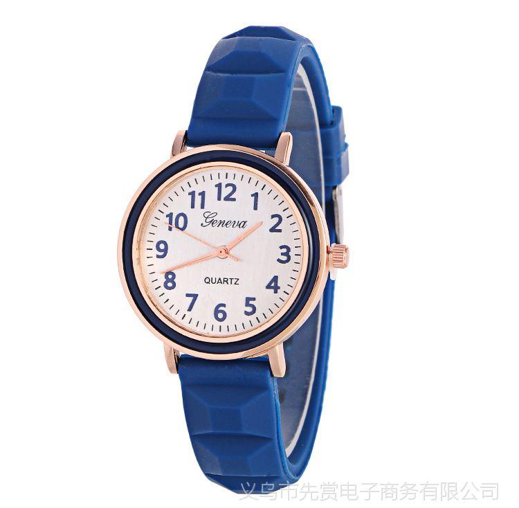 日内瓦GENEVA手表  糖果色硅胶手表 中性男士手表女表学生手表