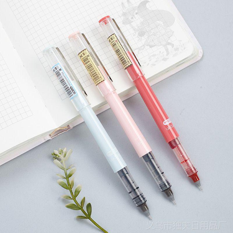 X88白雪直液式走珠笔0.38黑色中性笔学生用0.5mm水笔签字笔文具