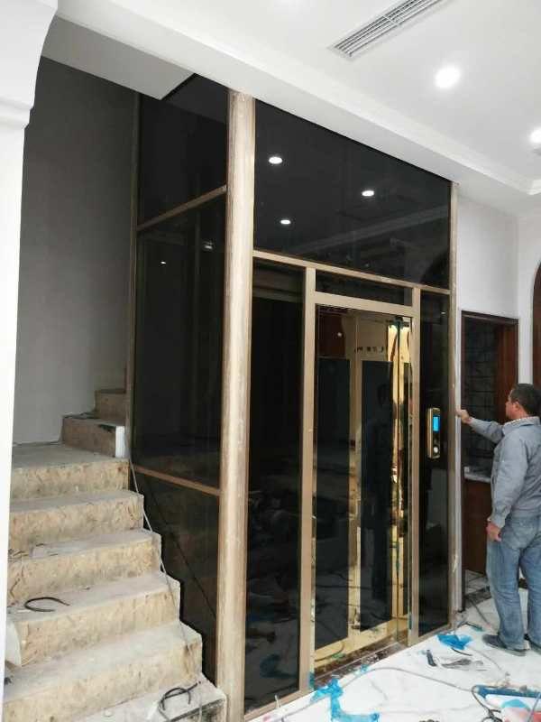 定制款曳引龙门架家用观光电梯