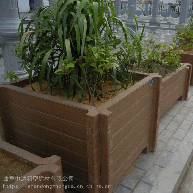 林州仿木水泥花盆 耐腐鼓园林景观花箱 厂家批发