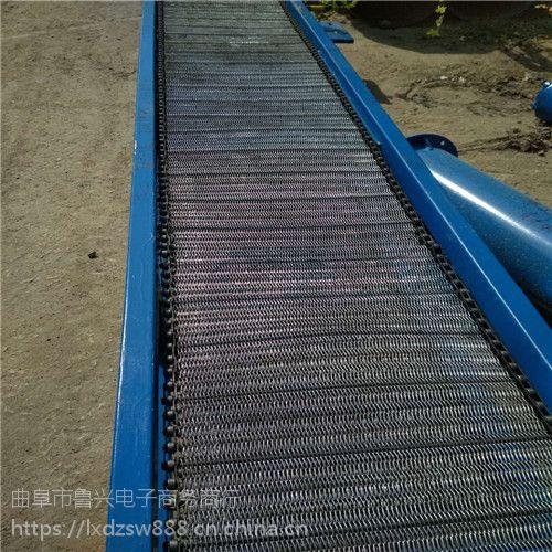 郴州白色裙边网带提升机 厂家水平直线输送