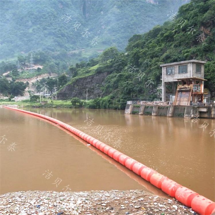河道漂浮物拦截浮排浮莲拦污漂施工方案