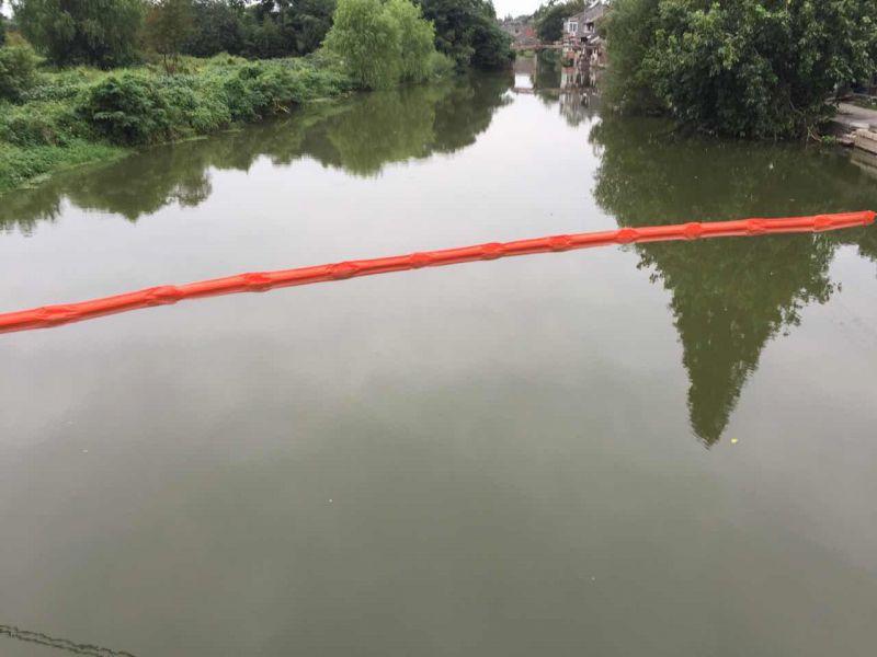 水上无缝隙拦截装置塑料拦污漂