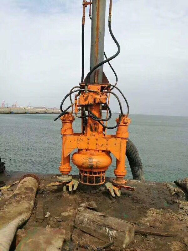 挖机双搅拌抽沙泵现场视频
