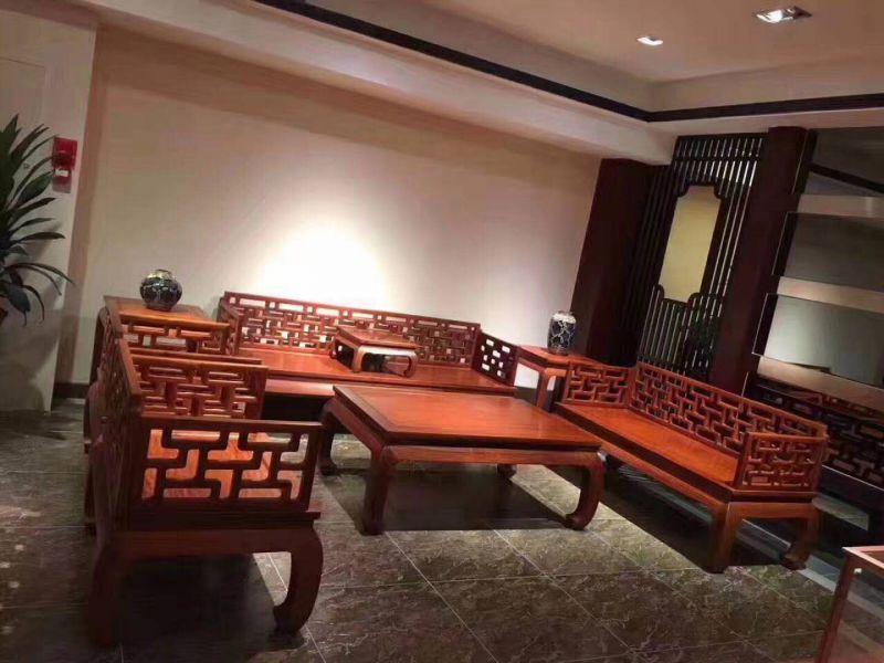 花梨木红木家具刺猬紫檀沙发款式大全 名琢世家品牌