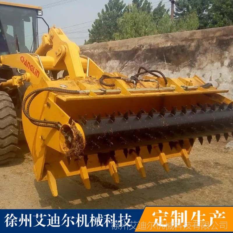 农用铲车配取料机价格 奶牛场养殖场装载机配青贮取料器厂家