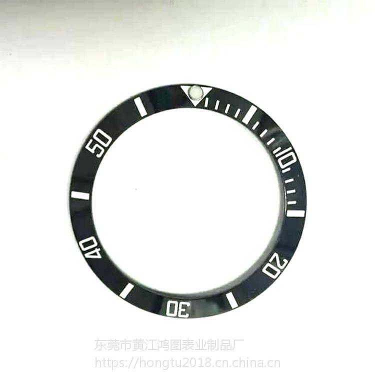 手表陶瓷圈厂家欢迎来样定制外直径38mm手表陶瓷圈