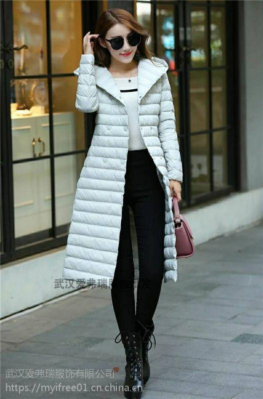 库存女装品牌分份如缤18款羽绒服大衣