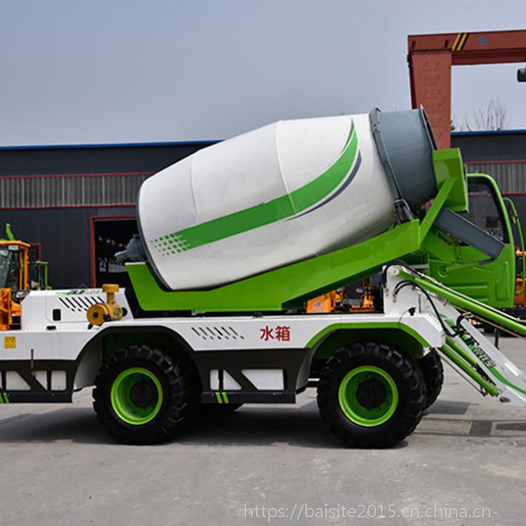 鄂尔多斯6.5方新型混凝土自动装料搅拌车 移动式搅拌站厂家
