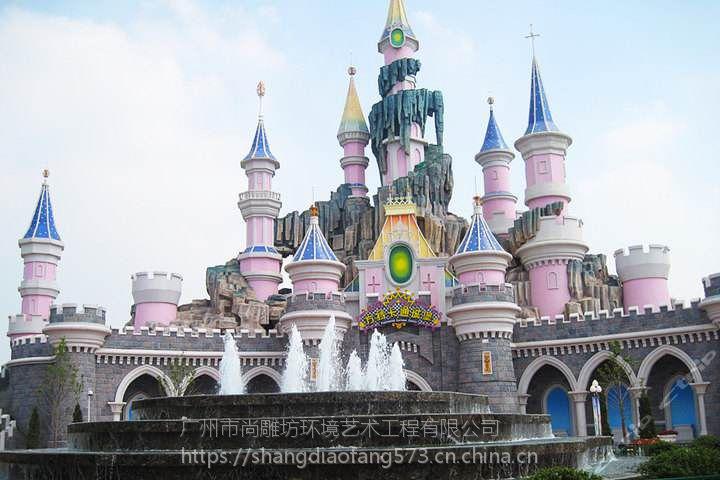 主题乐园规划设计水泥直塑工艺施工方案平面设计效果图3D场景建模