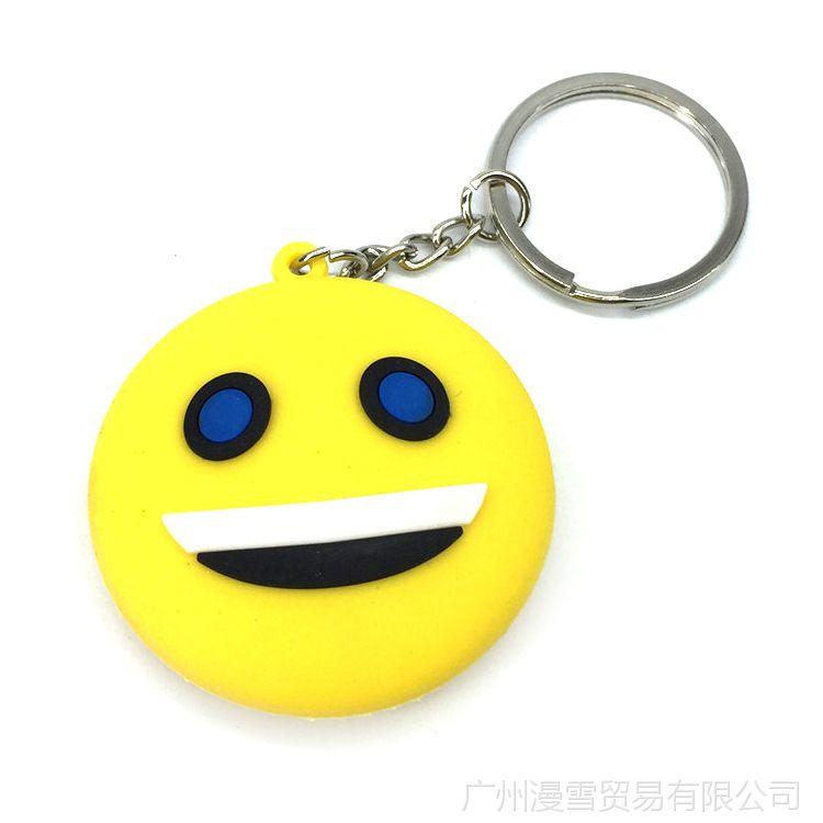 QQ图案项链物语钥匙扣吊坠挂饰表情瑞克和表情包信微化双面图片