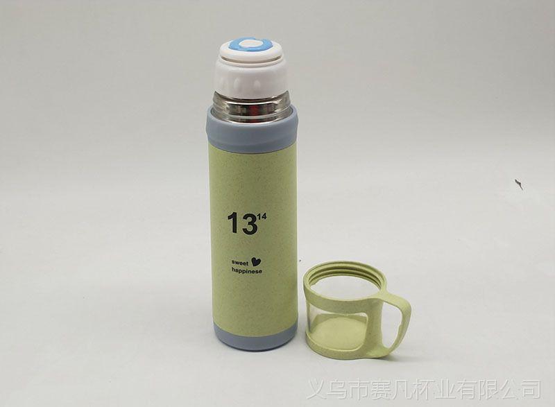 6 1水杯 麦秆子弹头保温杯 塑壳便携环保水杯 学生礼品杯子图片