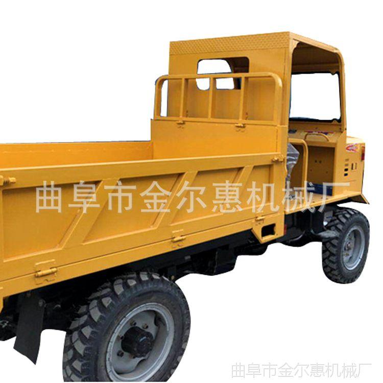 加高版25马力农用车 建筑运输土方四不像 电启动130桥后卸运输车