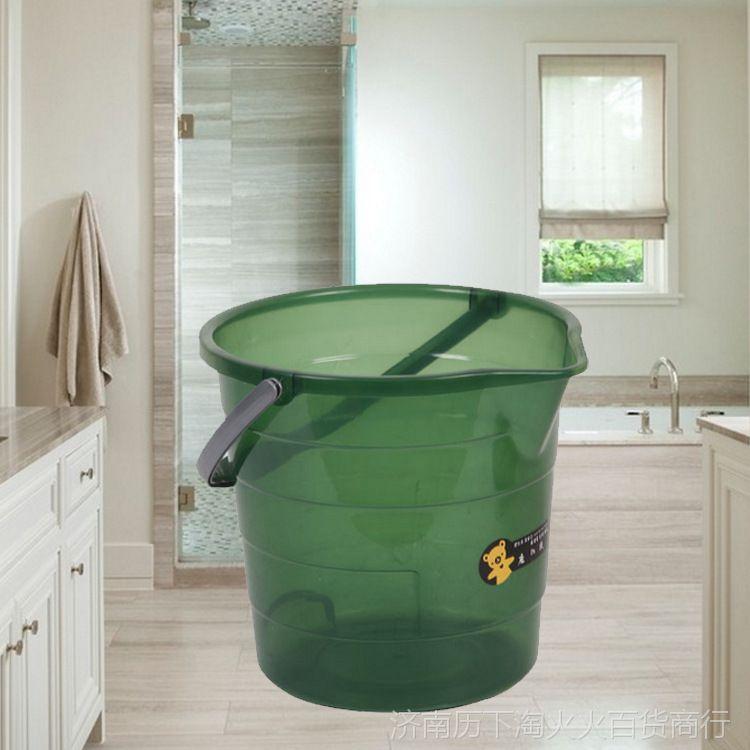 半透明水桶 欧式家用手提桶 全新塑料耐摔水桶  多功能加厚水桶