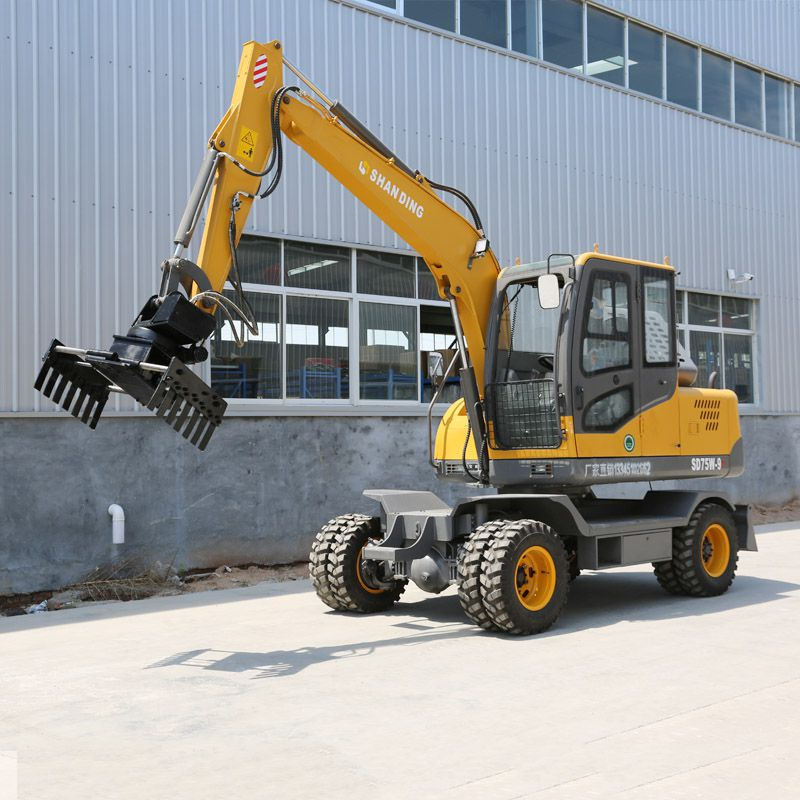 毕节轮式小型挖掘机 可以抓砖的轮式小型挖掘机型号