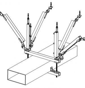 地下管廊抗震支吊架成品Q235B
