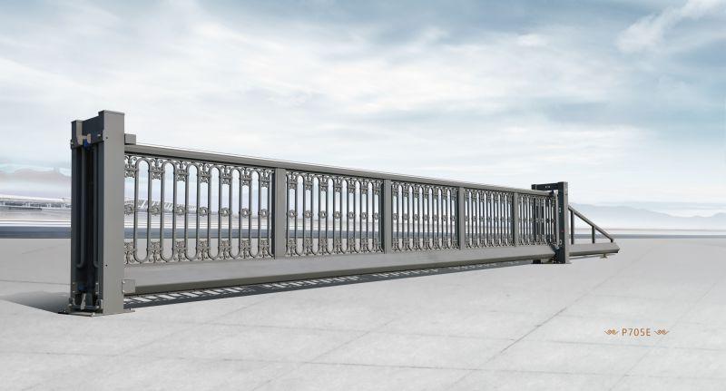红门定制款悬浮门 驻守河南国网电力