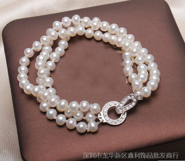 三排双排单排扣子 珍珠项链手链扣子 微镶锆石精品款