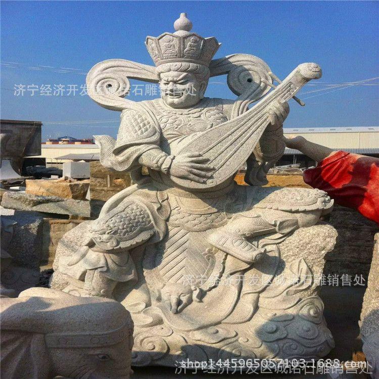 厂家批发供应汉白玉十八罗汉雕像 仿古石雕神像 寺庙18佛像雕刻