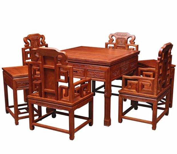 花梨木实木全自动麻将桌7件套价格名琢世家批发