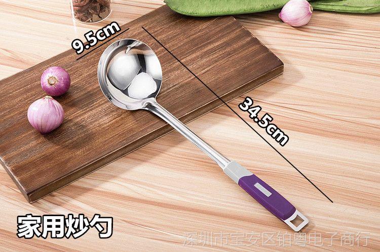加厚美女无磁不锈钢视频厨师马勺性感长柄炒菜超家用厨师炒勺图片