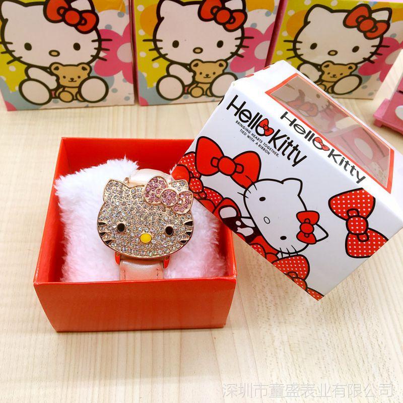 hello kitty时尚儿童手表盒 kt猫糖果手表盒凯蒂猫装饰用盒子